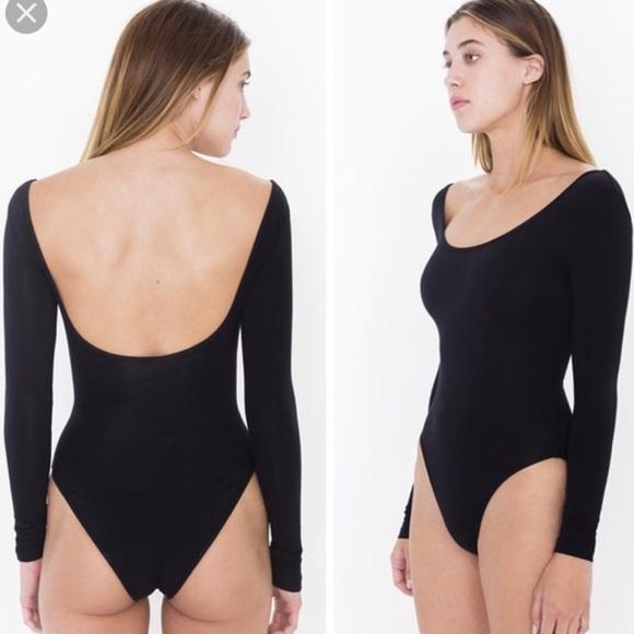379fcb4003e4 American Apparel Tops - American Apparel black scoop bodysuit